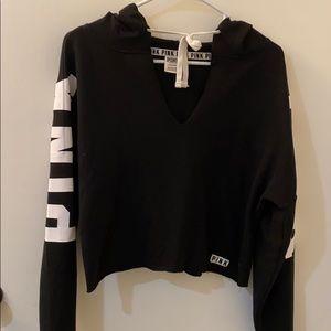 VS Pink crop top hoodie